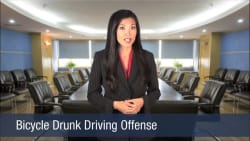 Bicycle Drunk Driving Offense