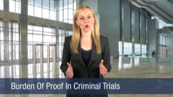 Burden Of Proof In A Criminal Trials