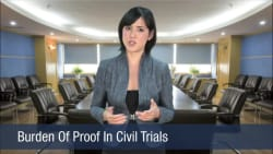 Burden Of Proof In Civil Trials