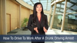 How To Drive To Work After A Drunk Driving