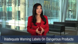Inadequate Warning Labels On Dangerous Products
