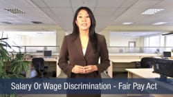 Salary Or Wage Discrimination – Fair Pay Act