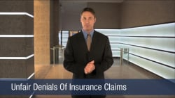 Unfair Denials Of Insurance Claims