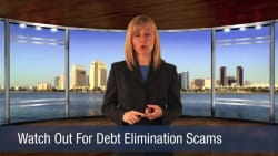 Watch Out For Debt Elimination Scams