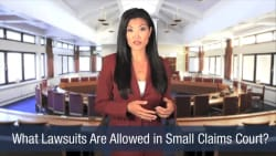 What Lawsuits Are Allowed in Small Claims Court