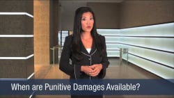 When are Punitive Damages Available