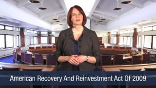 Video American Recovery And Reinvestment Act Of 2009