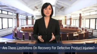 Video Are There Limitations On Recovery For Defective Product Injuries