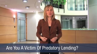 Video Are You A Victim Of Predatory Lending