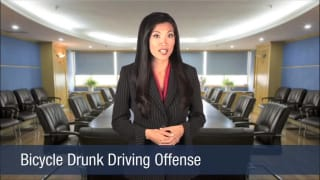 Video Bicycle Drunk Driving Offense