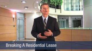 Video Breaking A Residential Lease