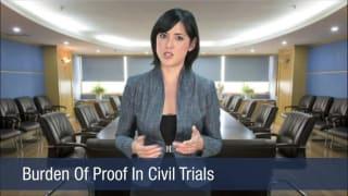 Video Burden Of Proof In Civil Trials