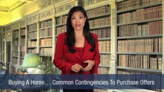 Video Buying A Home. Common Contingencies To Purchase Offers