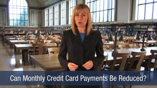 Video Can Monthly Credit Card Payments Be Reduced