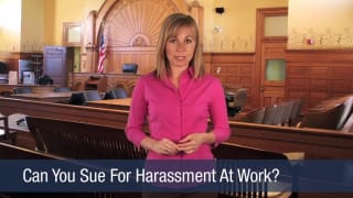 Video Can You Sue For Harassment At Work