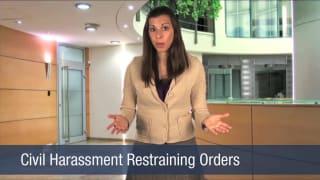 Video Civil Harassment Restraining Orders