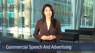 Video Commercial Speech And Advertising