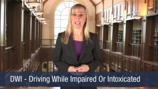 Video DWI – Driving While Impaired Or Intoxicated