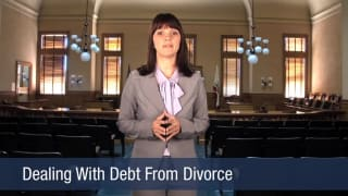 Video Dealing With Debt From Divorce