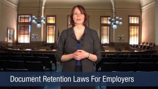 Video Document Retention Laws For Employers
