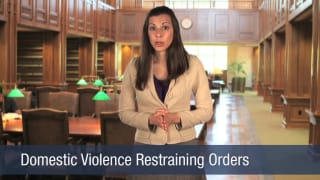 Video Domestic Violence Restraining Orders