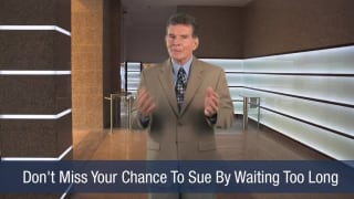 Video Don't Miss Your Chance To Sue By Waiting Too Long