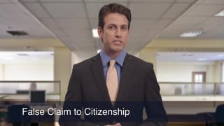 Video False Claim to Citizenship