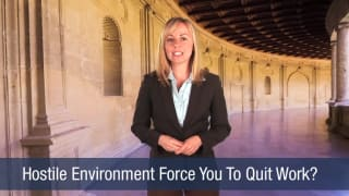 Video Hostile Environment Force You to Quit Work