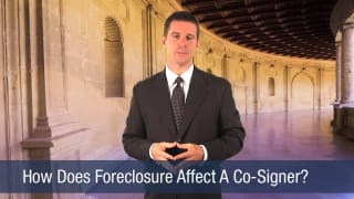 Video How Does Foreclosure Affect A Co-Signer