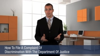 Video How To File A Complaint Of Discrimination With The Department Of Justice