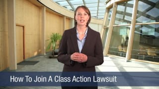 Video How To Join A Class Action Lawsuit