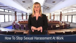 Video How To Stop Sexual Harassment At Work