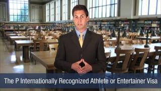 Video Internationally Recognized Athlete or Entertainer Visa