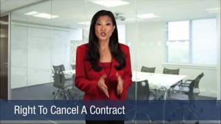 Video Right To Cancel A Contract