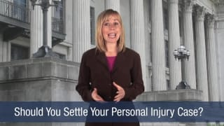 Video Should You Settle Your Personal Injury Case