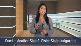 Video Sued In Another State Sister State Judgments