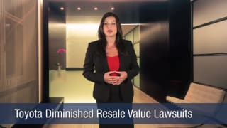 Video Toyota Diminished Resale Value Lawsuits