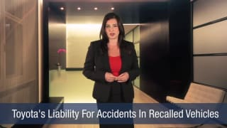 Video Toyota's Liability For Accidents In Recalled Vehicles