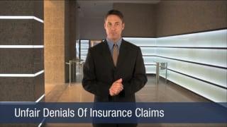 Video Unfair Denials Of Insurance Claims