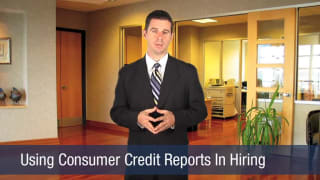 Video Using Consumer Credit Reports In Hiring