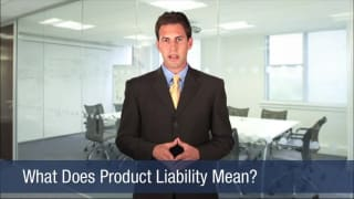 Video What Does Product Liability Mean
