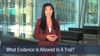 Video What Evidence Is Allowed In A Trial