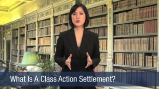 Video What Is A Class Action Settlement