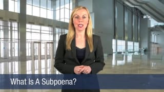 Video What Is A Subpoena