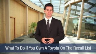 Video What To Do If You Own A Toyota On The Recall List