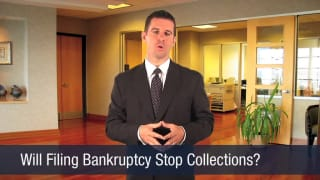 Video Will Filing Bankruptcy Stop Collections